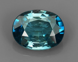 3.45~CT EXECLLENT OVAL CUT 100% NATURAL RARE~BLUE COLOR CAMBODIA ZIRCON GEM