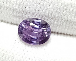 NO HEAT 1.26 CTS CERTIFIED STUNNING PURPLE SAPPHIRE FROM SRI LANKA