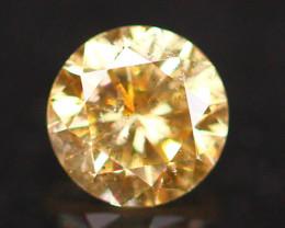 0.18Ct Yellow Fancy Diamond Natural Round Brilliant Cut Diamond B2405