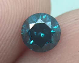 (B22) Brilliant Nat 0.45ct. Round Blue Diamond