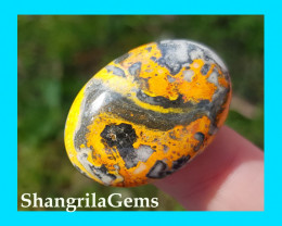 30mm BumbleBee Jasper oval AAA 32ct 30 by 22 by 6mm from West Java Indonesi