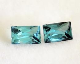 Greenish Blue 1.20ct Tourmaline Earring Pair  G516