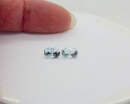 2 x  Aquamarine Natural Colour