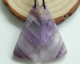 Sale Natural Amethyst Earring Pairs ,Triangle Gemstone ,Wholesale C255
