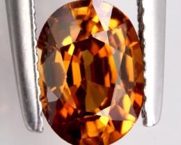 Orange Bronze Zircon VVS 1.75ct No reserve ~