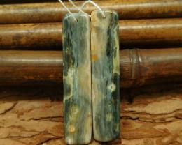 Long dangle ocean jasper earring bead high polished cabochon bead(G0063)