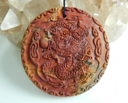 Hand Carved China Dragon Pendant Bead ,Best Gift ,Wholesale Jewelry C262