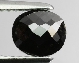0.98 Cts Natural Black Diamond Oval (Rose Cut) Africa