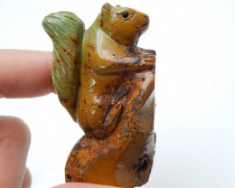 Hand Carved Squirrel Cabochon ,Natural Turquoise Gemstone C270