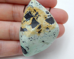 Hand Made Green Turquoise Pendant Bead,,Natural Green Turquoise Gemstone C2