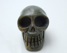 Hand Carved Skull Cabochon ,Multi Color Jasper Gemstone C279