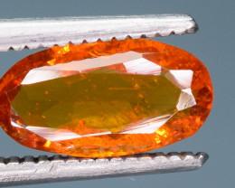 0.85 ct NATURAL SPESSARTITE GARNET ORANGE RED GEMSTONE