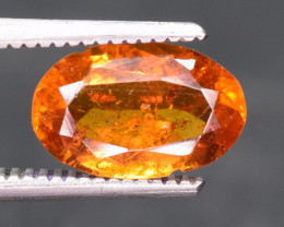 1.30 ct NATURAL SPESSARTITE GARNET ORANGE RED GEMSTONE