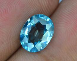 AAA Brilliance 3.50 ct Blue Zircon Cambodia