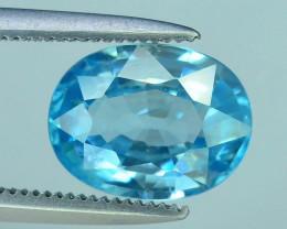 AAA Brilliance 2.75 ct Blue Zircon Cambodia