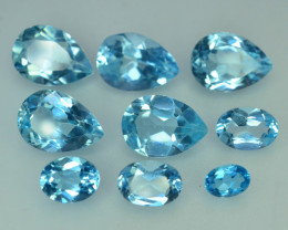40.70 CT Natural Swiss Topaz~9 PCs Lot