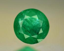 No Reserve - 0.60 Carats Round Cut Beautifull Emerald Gemstone