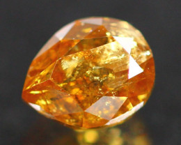 0.76Ct Champagne Fancy Natural Untreated Color Diamond A2507