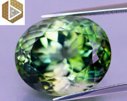 Perfection! Loupe-Clean 22.15 CT Neon Green Tourmaline (Nigeria) $8,700