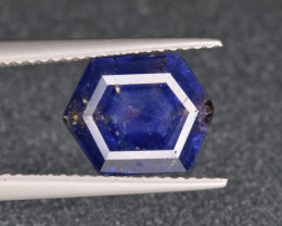 Natural Trapiche  Sapphire 2.73 Cts from Kashmir, Pakistan