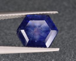 Natural Trapiche  Sapphire 3.45 Cts from Kashmir, Pakistan