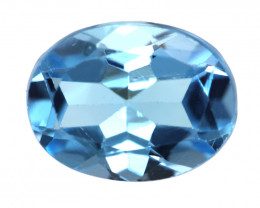 2.16cts Natural Swiss Blue Topaz Oval Cut
