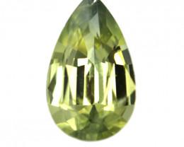 0.57cts Natural Australian Yellow Sapphire Pear Shape