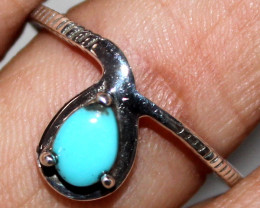 Natural Turquoise 925 Silver Ring Size US (9.5) 104