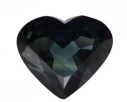0.94cts Natural Australian Blue Sapphire Heart Cut