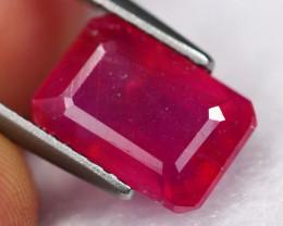 3.78Ct Vivid Pinkish Red Mozambique Ruby B2801