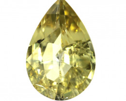 1.16cts Natural Australian Yellow Sapphire Pear Shape
