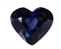 0.85cts Natural Australian Blue Sapphire Heart Shape