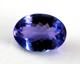 1.25 ct Gorgeous Top Color IF Natural Tanzanite