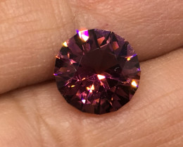 2.65 Carat VVS Tourmaline Purplish Pink Master Cut Brilliant Flash Quality