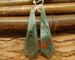 New design bloodstone earring bead for women gift (G0071)