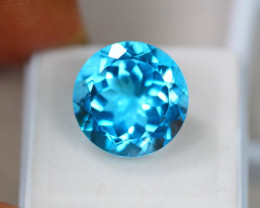 17.41Ct Swiss Blue Topaz Round Cut Lot LZ2306