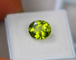 3.45Ct Natural Green Peridot Oval Cut Lot Z385