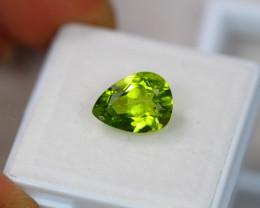 3.32Ct Green Peridot Pear Cut Lot Z389