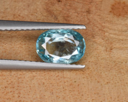 Natural  Blue Zircon 1.45 Cts Top Luster Gemstone