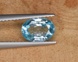 Natural  Blue Zircon 1.69 Cts Top Luster Gemstone