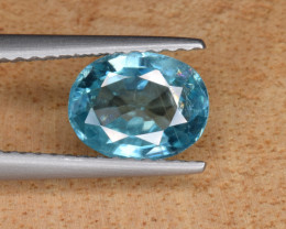 Natural  Blue Zircon 1.70 Cts Top Luster Gemstone