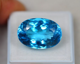 25.31Ct Swiss Blue Topaz Oval Cut Lot LZ2321