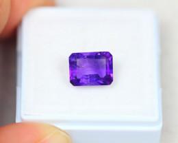 2.14Ct Purple Amethyst Octagon Cut Lot LZ2329