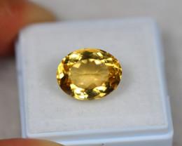 5.94ct Yellow Citrine Oval Cut Lot GW3647