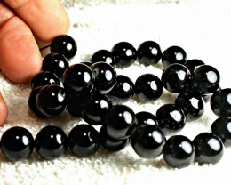 447.0 Carat Black Tourmaline Strand - Superb