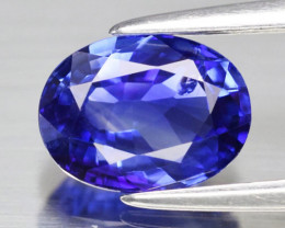 0.70 ct Gorgeous Top Color IF Natural Tanzanite Certified