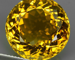 18.25 CTS DAZZLING TOP NATURAL GOLDEN YELLOW CITRINE 17MM BRAZIL NR!!!