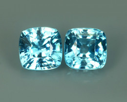 4.90 CTS  Dynamic Cushion Execllent Blue Zircon Natural Cambodia Gem! $480~