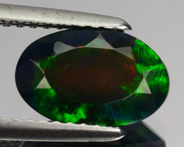 ~FLASHING~ 1.00 Cts Smoked Ethiopian Color Play Opal Oval Cut