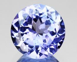 ~PRETTY~ 0.93 Cts Natural Purple Blue Tanzanite Round Cut Tanzania